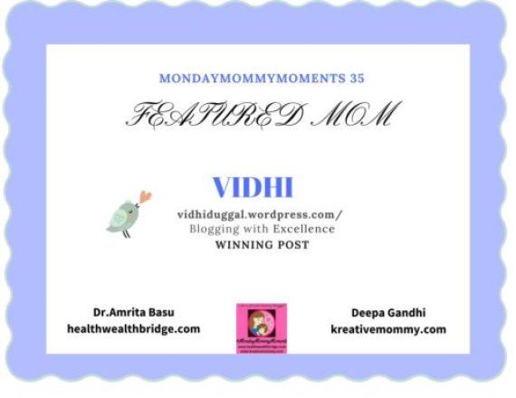 MondayMommyMoments 35 - Vidhi
