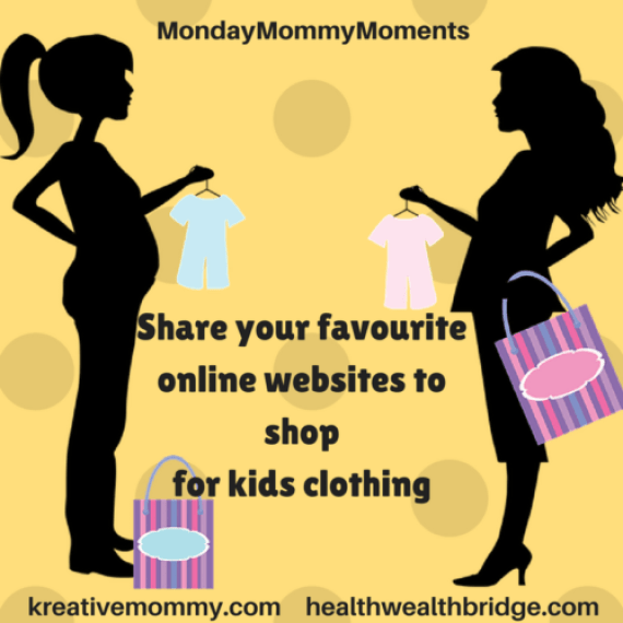 Share your favourite online websites to shop for kids clothing:MondayMommyMoments 37 prompt