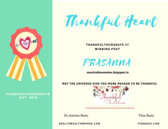 Thankful heart Appreciation for Prasanna from Mocktailmommies
