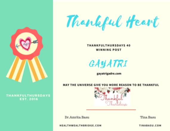 ThankfulThursdays-thankful Heart winner Gayatri