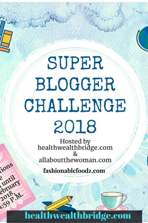 Super Blogger Challenge 2018 with   #Instacuppa