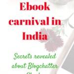 Ebook Carnival in India: Secrets Revealed #BlogchatterEbooks