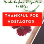 Thankful for Hostagtor (Headache free Migration to https):Review on #ThankfulThursdays