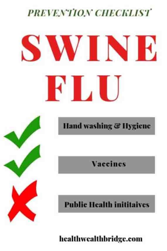 SWINE FLU prevention checklist