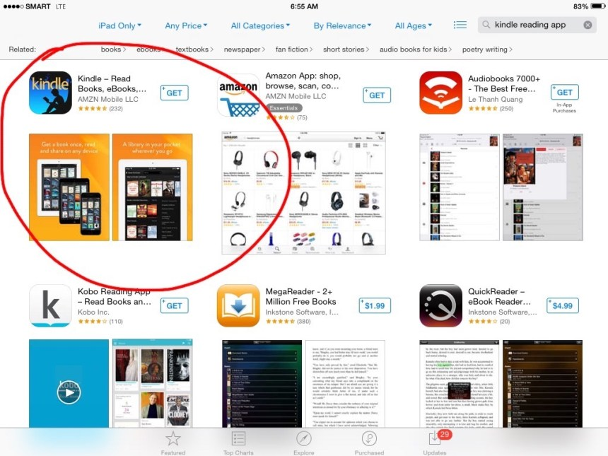 Kindle App on App Store