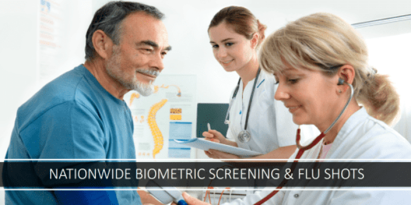 Nationwide employer biometric screenings & flu shots