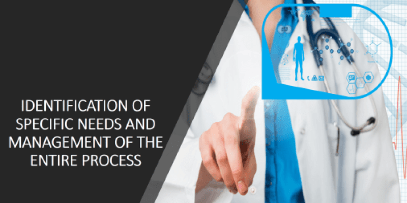 Identification of specific needs and management of the process