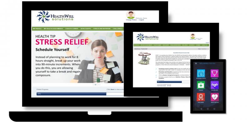 customized employee wellness portal