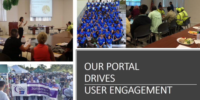 Our portal drives user engagement