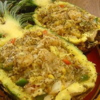 Stuffed Pineapple Boats
