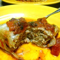 Stuffed Cabbage in the Crock Pot (Paleo)