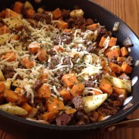 Sweet Potato, Apple, and Beef Skillet