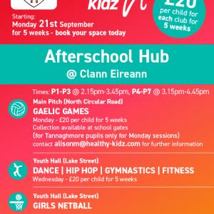 Healthy Kidz Afterschools at Clann Eireann