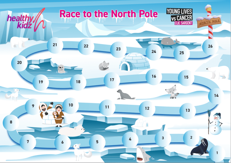 Race to tjhe North Pole Map