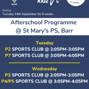 Healthy Kidz Afterschools at St Mary's Barr PS