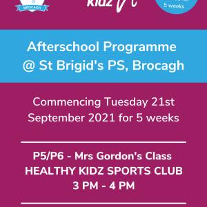 Healthy Kidz Afterschools at St Brigid's PS, Brocagh