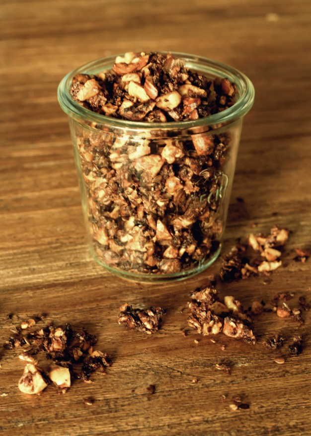 knusprige Schokoladen Kokos Granola