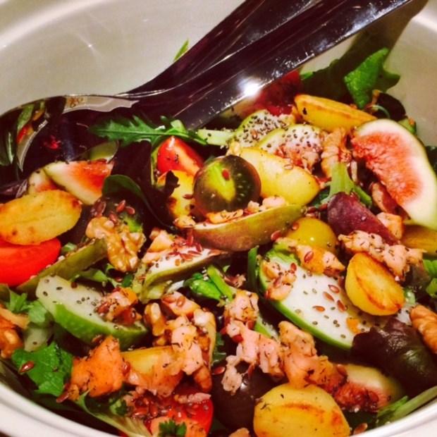 Salade met zalm en chiazaad