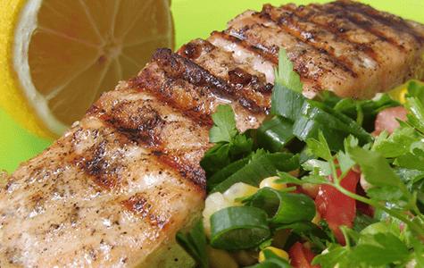 Seared Salmon and Arugula Salad