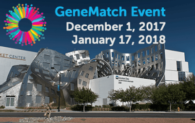 GeneMatch Event – Dec 1 & Jan 17