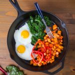 Skillet Eggs with Sweet Potato Hash Browns