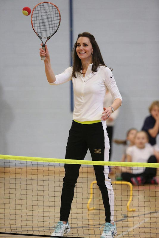 Kate Middleton during a Tennis workshop in Scotland in February 2016