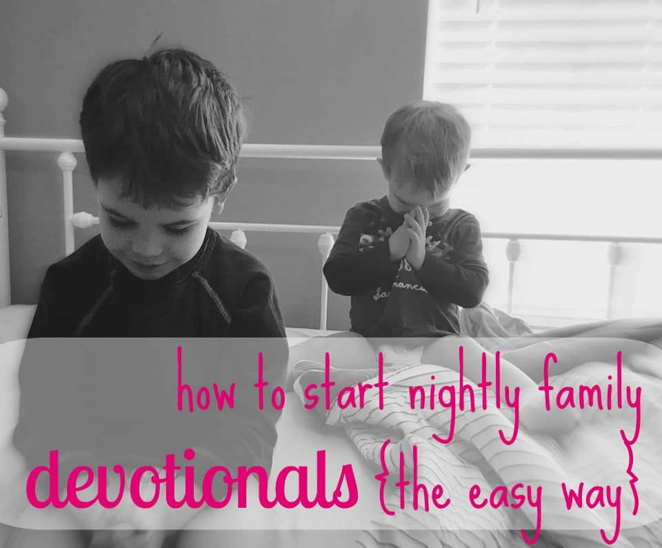 Our boys enjoyed daily family bible time so much, we made the commitment to do it every night - and thanks to this simple routine, it actually stuck!Click to read our simple structure and great resources.