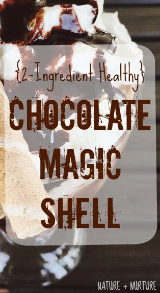 Chocolate Magic Shell Recipe {2 Ingredients & Healthy}