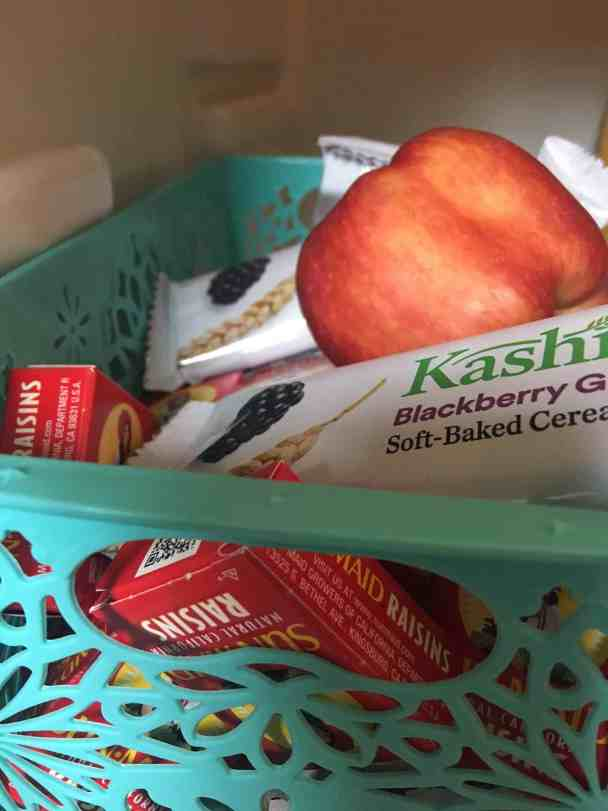 Healthy snack bin - how to eat healthier