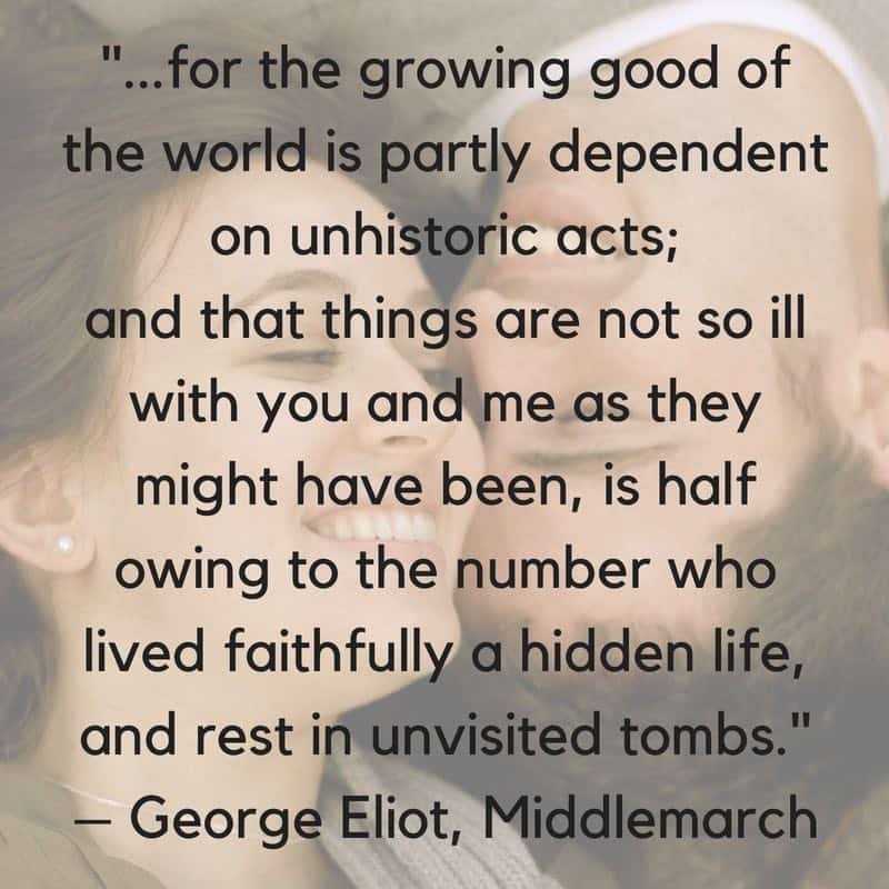 Feeling Invisible quote from George Elliot's novel Middlemarch
