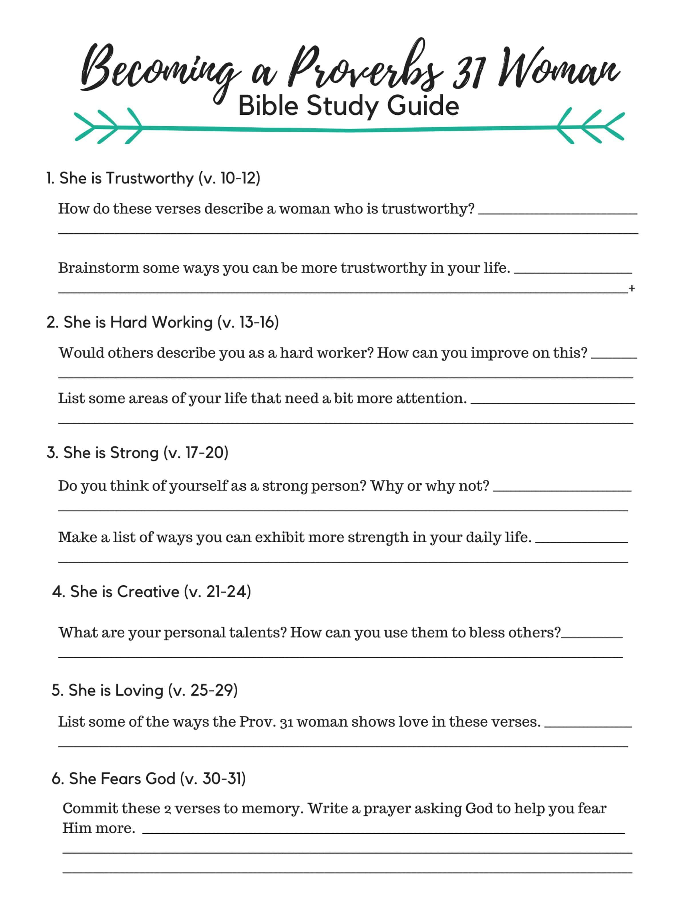 photograph about Printable Bible Study Guide referred to as Yourself CAN Be a Proverbs 31 Girl - Its A lot easier Than Yourself Consider!