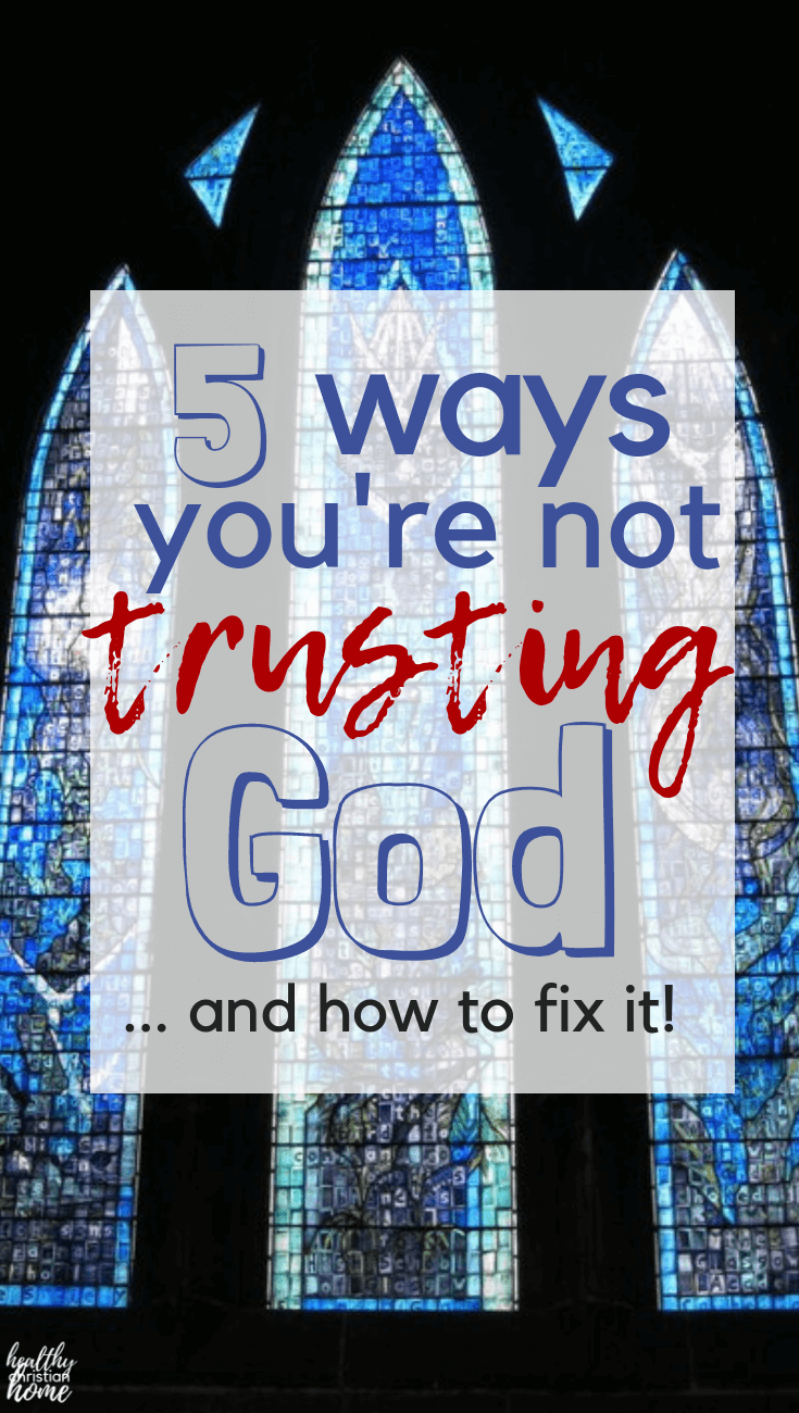 Trusting God is tough. Let's look at five ways we as humans try to trust God in our lives but come up short, plus some solutions to these pitfalls. #trust #trustGod #loveGod #God #Jesus #Christianity