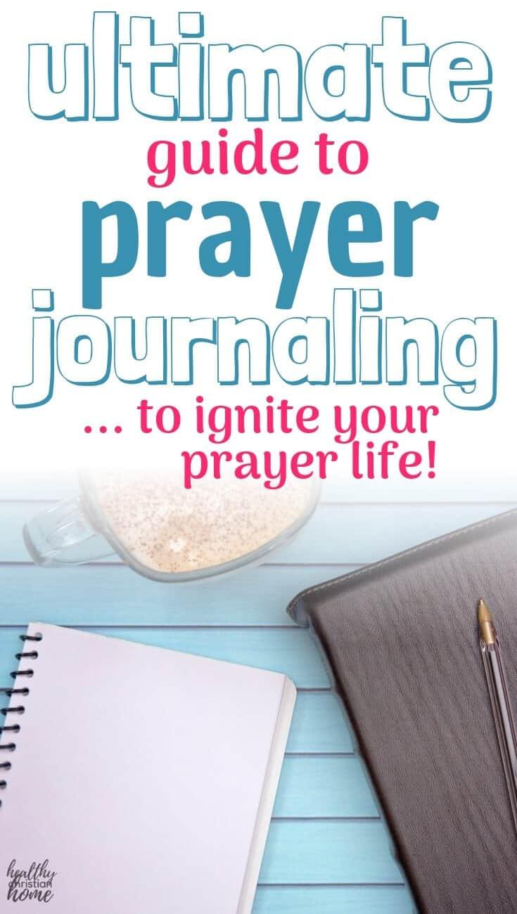 Prayer journaling pinterest image