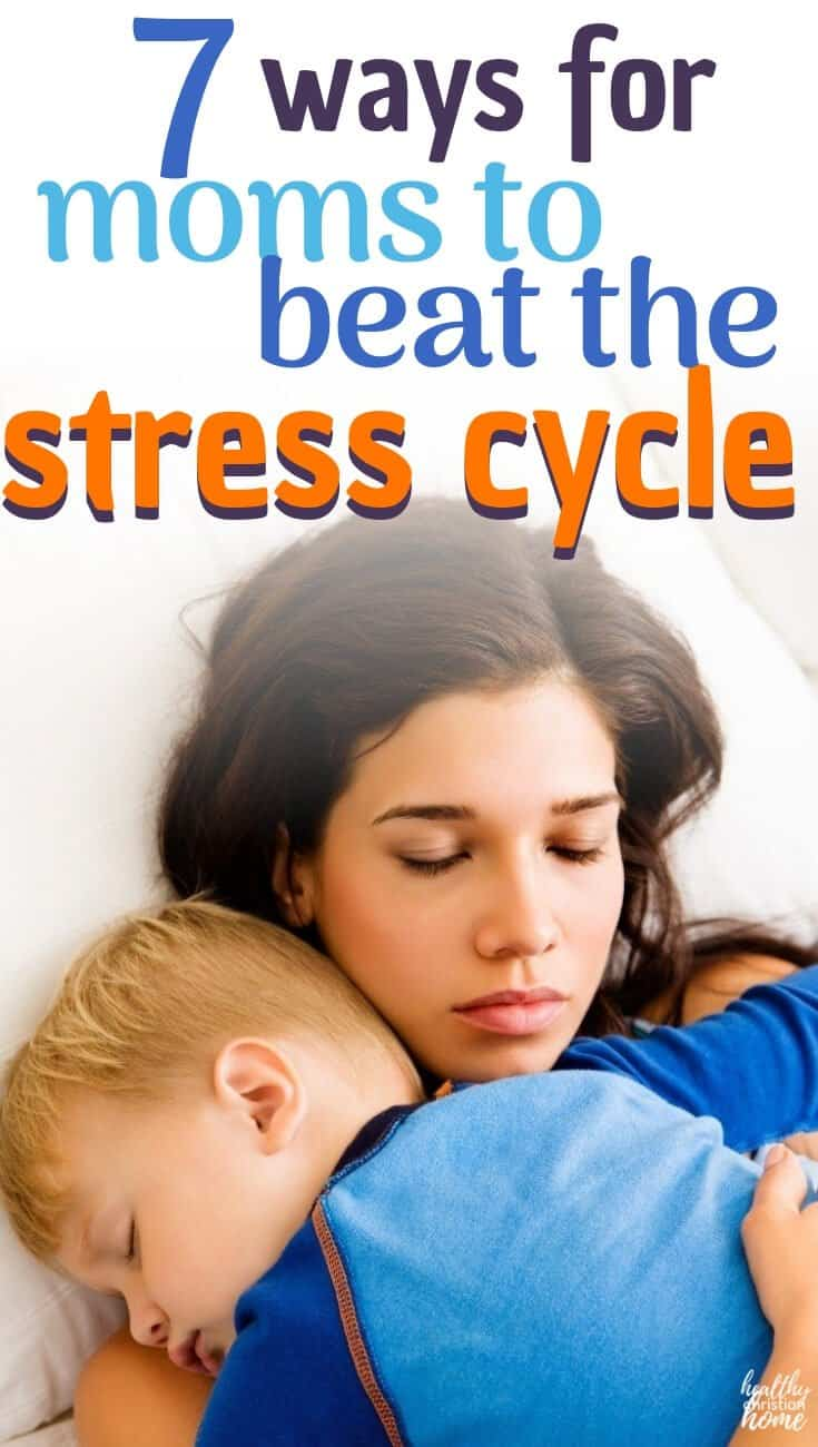 If you classify yourself as a stressed mom, you're in the right place! Let's look at why many moms are chronically stressed, plus 7 simple stress relief solutions! (plus the best bible verse for stress, too!) #stressmanagement #stressrelief #stressedmom #Christian