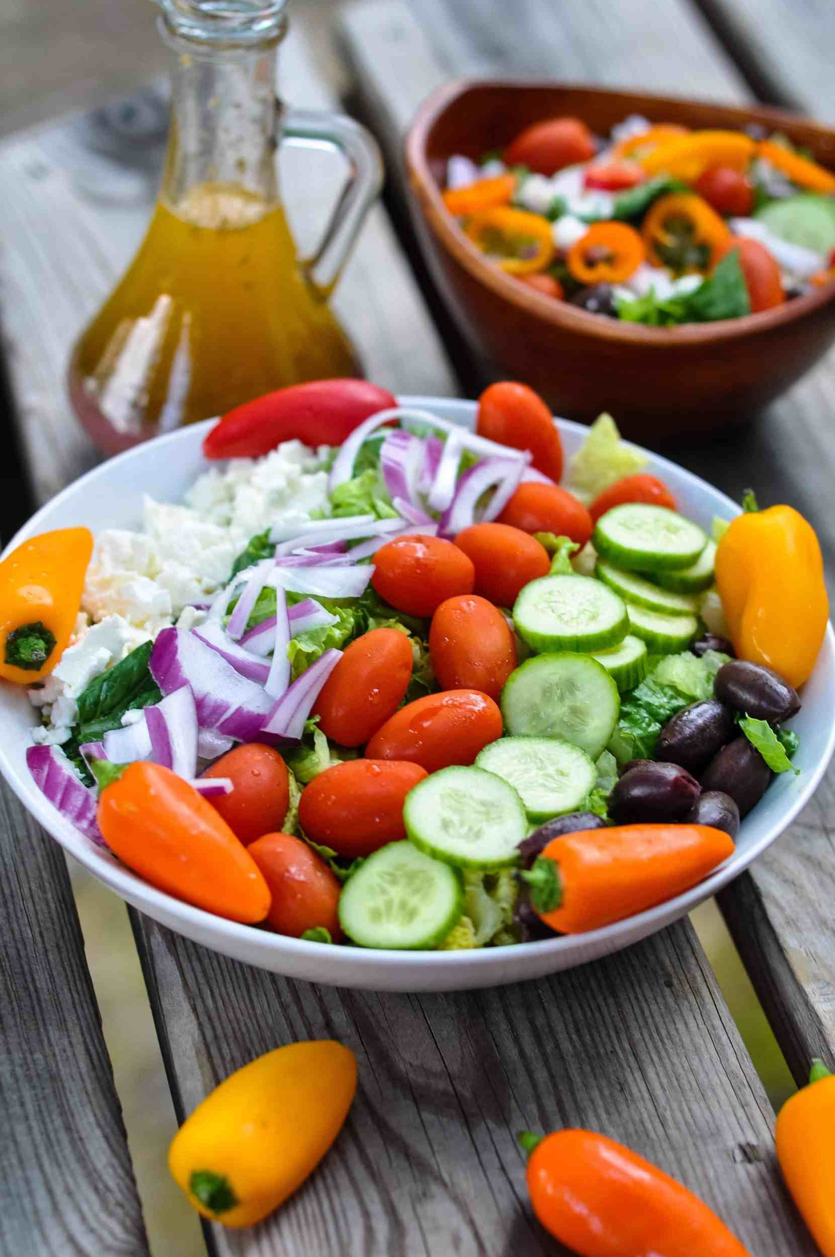 Ultimate Greek Salad with Mini Sweet Peppers from Healthy Christian Home