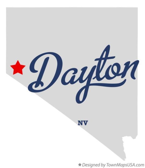 dayton nv on map