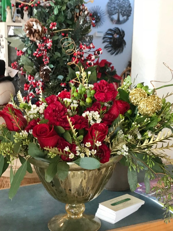 roots and shoots holiday roses