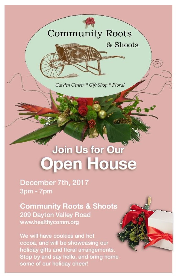 roots and shoots open house
