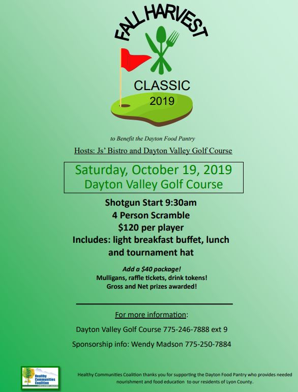 dayton pantry golf course fundraiser flyer