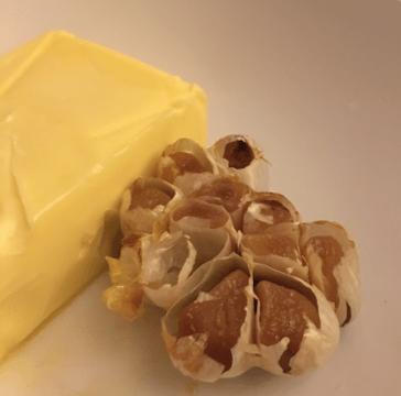 garlic cloves and butter