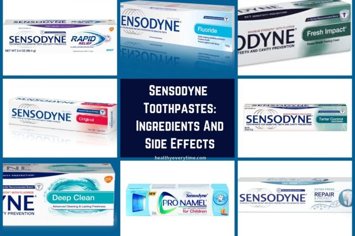 Sensodyne Toothpastes: Ingredients, Side Effects And How To Use.