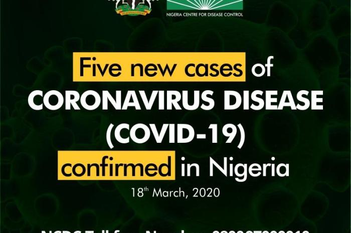 5 New Cases Of Coronavirus Confirmed In Nigeria