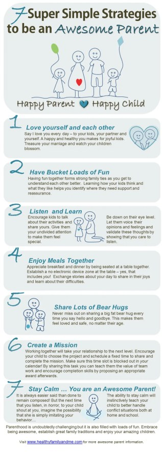 Do you want to be an awesome parent? This is how easy it is! 7 super simple strategies to be an awesome parent. Ready now to up your game!