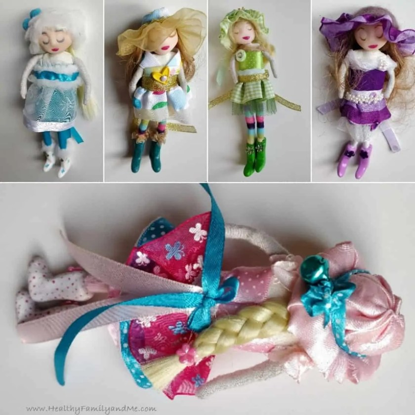 Textile Clay Dolls
