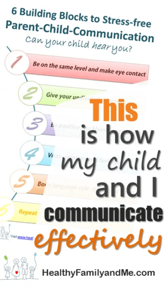 This is how my child and I communicate effectively. by using the 6 building blocks to effective parent-child communication. #parentchildcommunication #bestparent #goodparentingtips