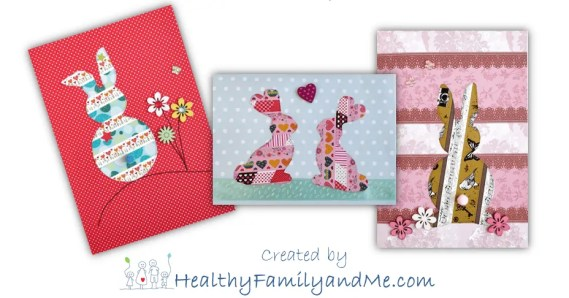 Create your own Easter card with free step-by-step. easter card diy