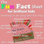 fun fact sheet for brilliant kids. Fun and easy learning with HealthyFamilyandMe.com