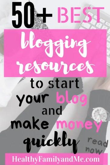 Check out these awesome blogging resources to start y blog and make money blogging. #blogging #startablog #startamomblog