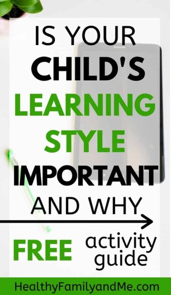 Learning styles for kids activities and types of teaching. Learn how to discover your child's learning styles and use it as study techniques and memorization tips. Free learning styles activities and learning guide printable. #learningstyles #kidslearning #homeschool #homeschoolactivities #momlife #learnfromhome #smartkids