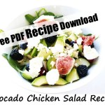 Avocado Chicken Salad. A health and easy recipe for family clean eating. Check out this healthy summer salad with chicken, avo, berries and figs. #avochickensalad #chickensalad #chickenavo #avocado #summersalad